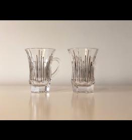Skloglass Parma theeglazen Platinum / 6st