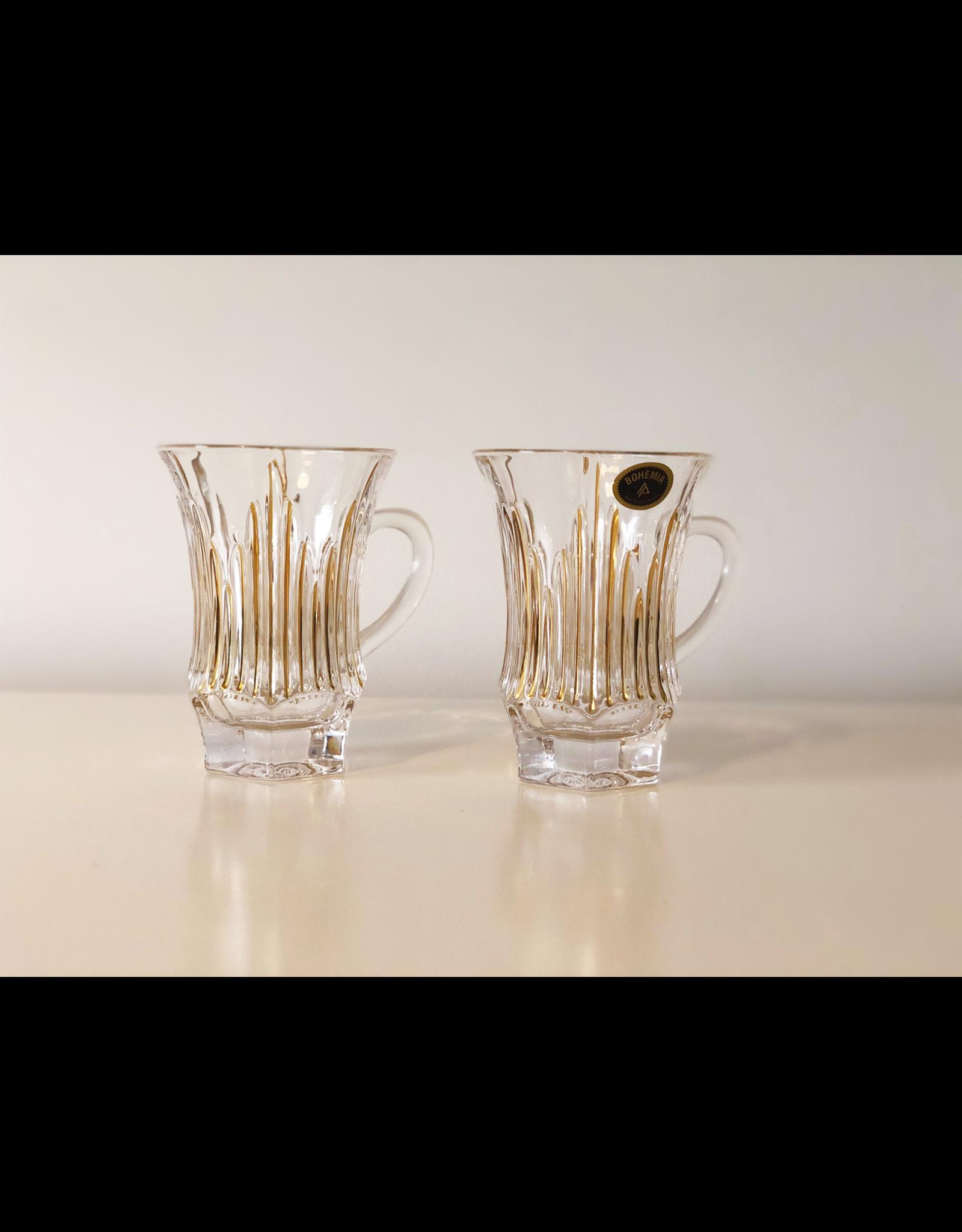 Skloglass Parma theeglazen Goud / 6st
