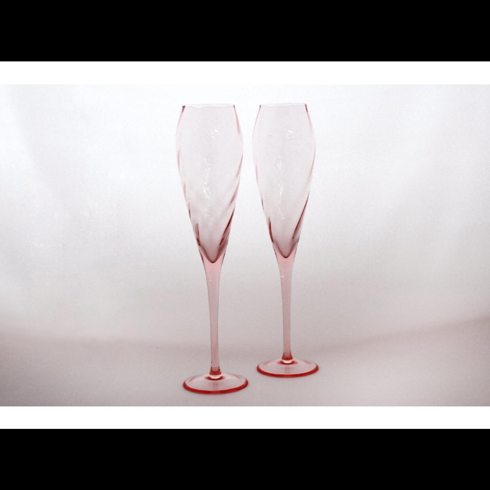 Skloglass Twist champagneglas / 2st