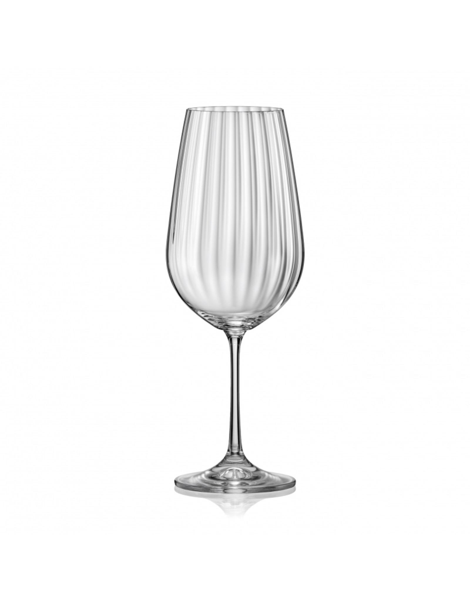 Crystalex Kristallen wijnglas Waterfall 550ml /6st