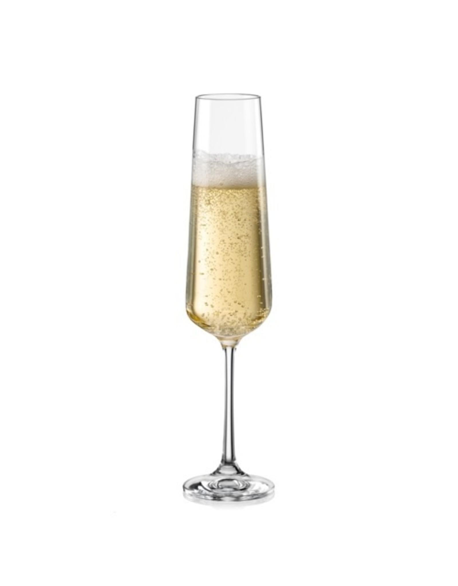 Crystalex Kristallen champagneglas Sandra 200ml /6st