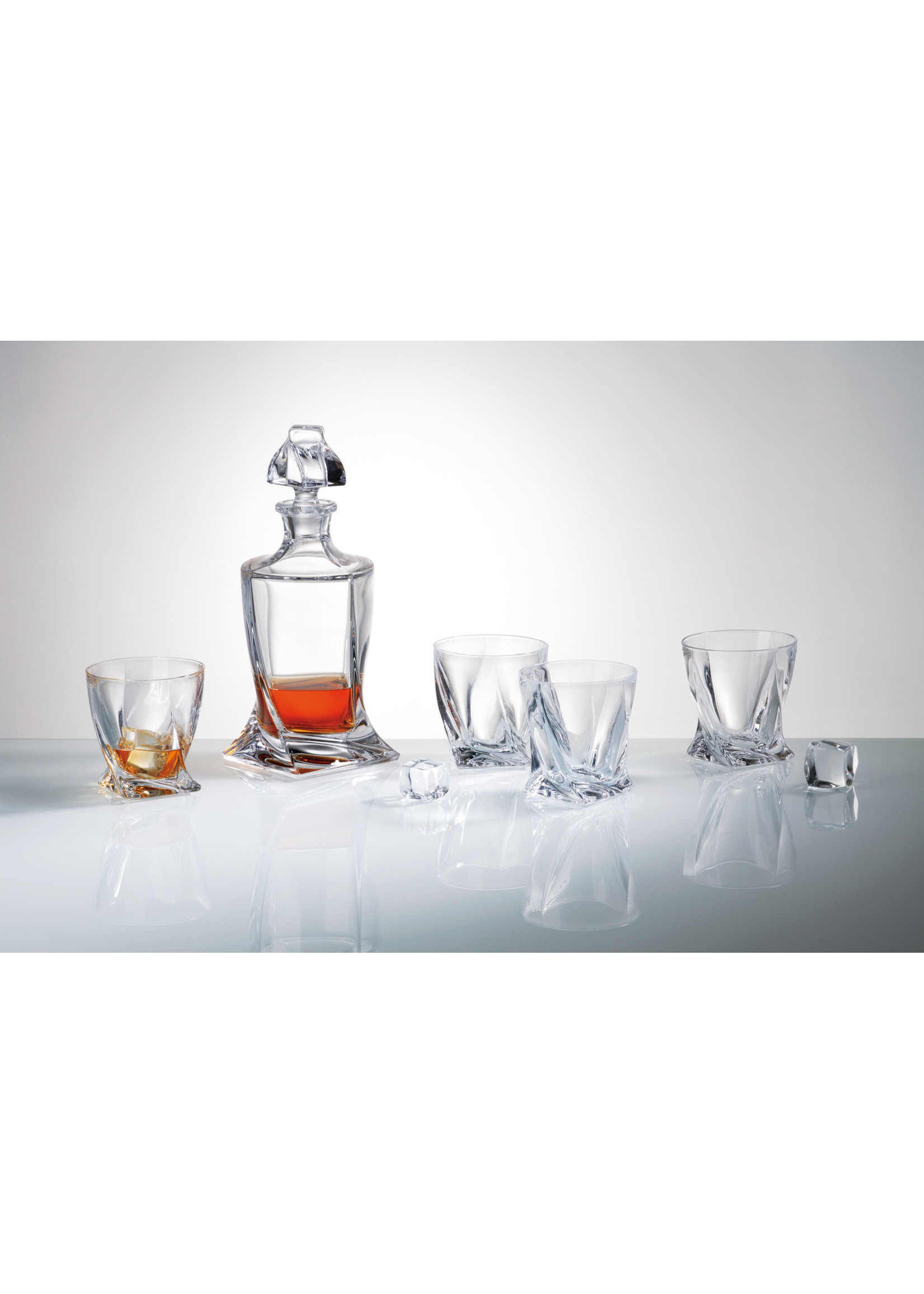 Crystalite Quadro whisky set 7 delig