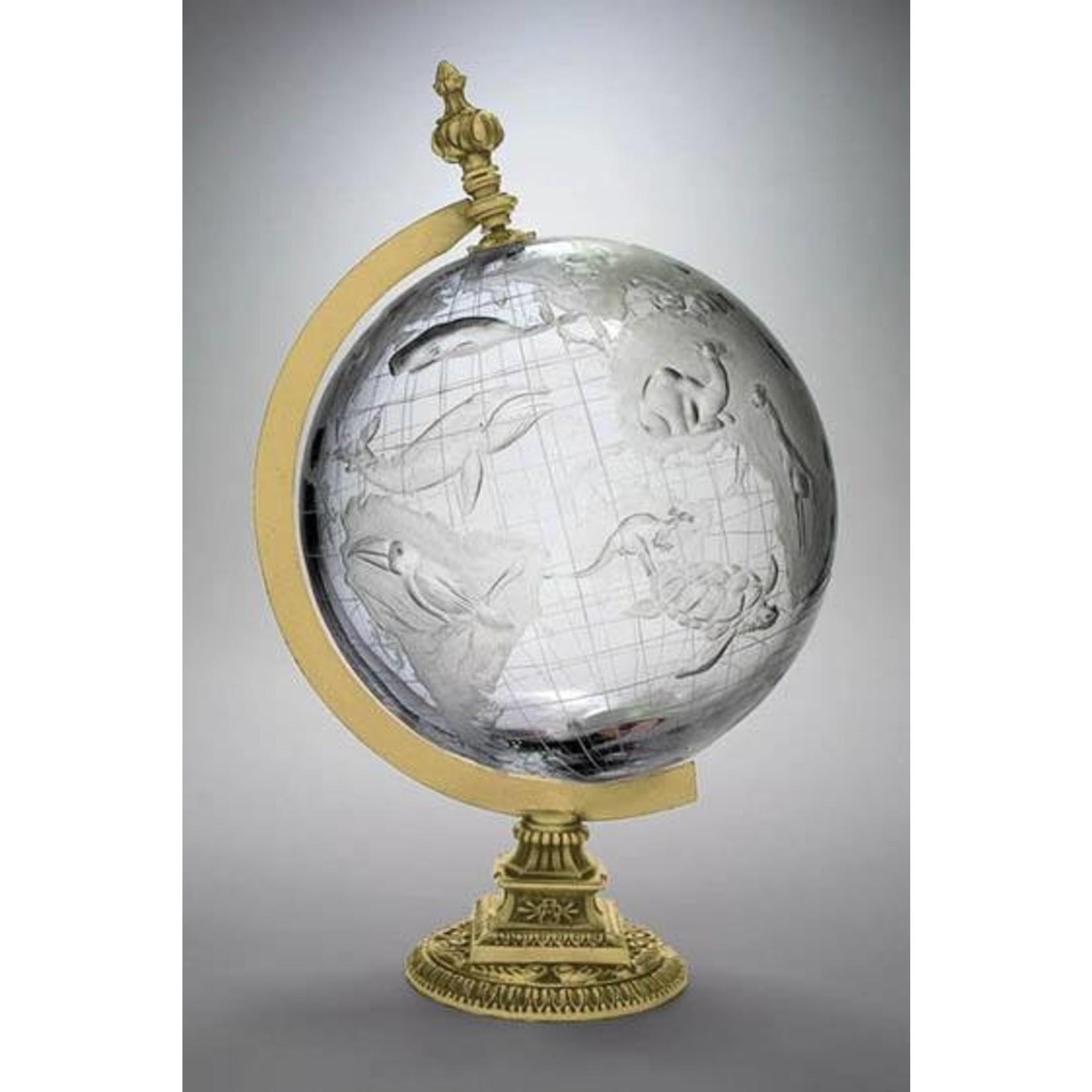 Skloglass Kristallen wereldbol met dieren