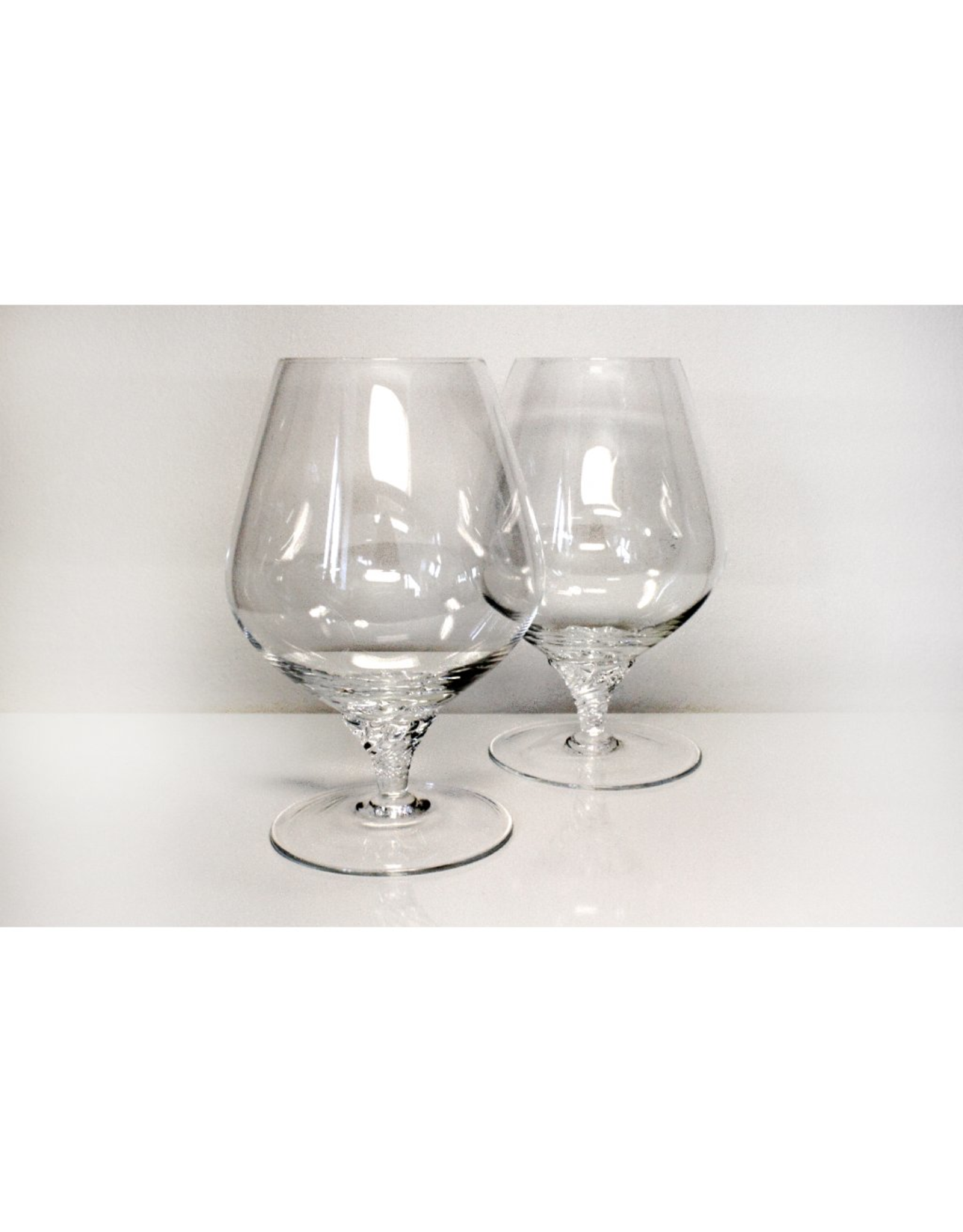Skloglass Handgemaakte kristallen cognac glas Twist leg