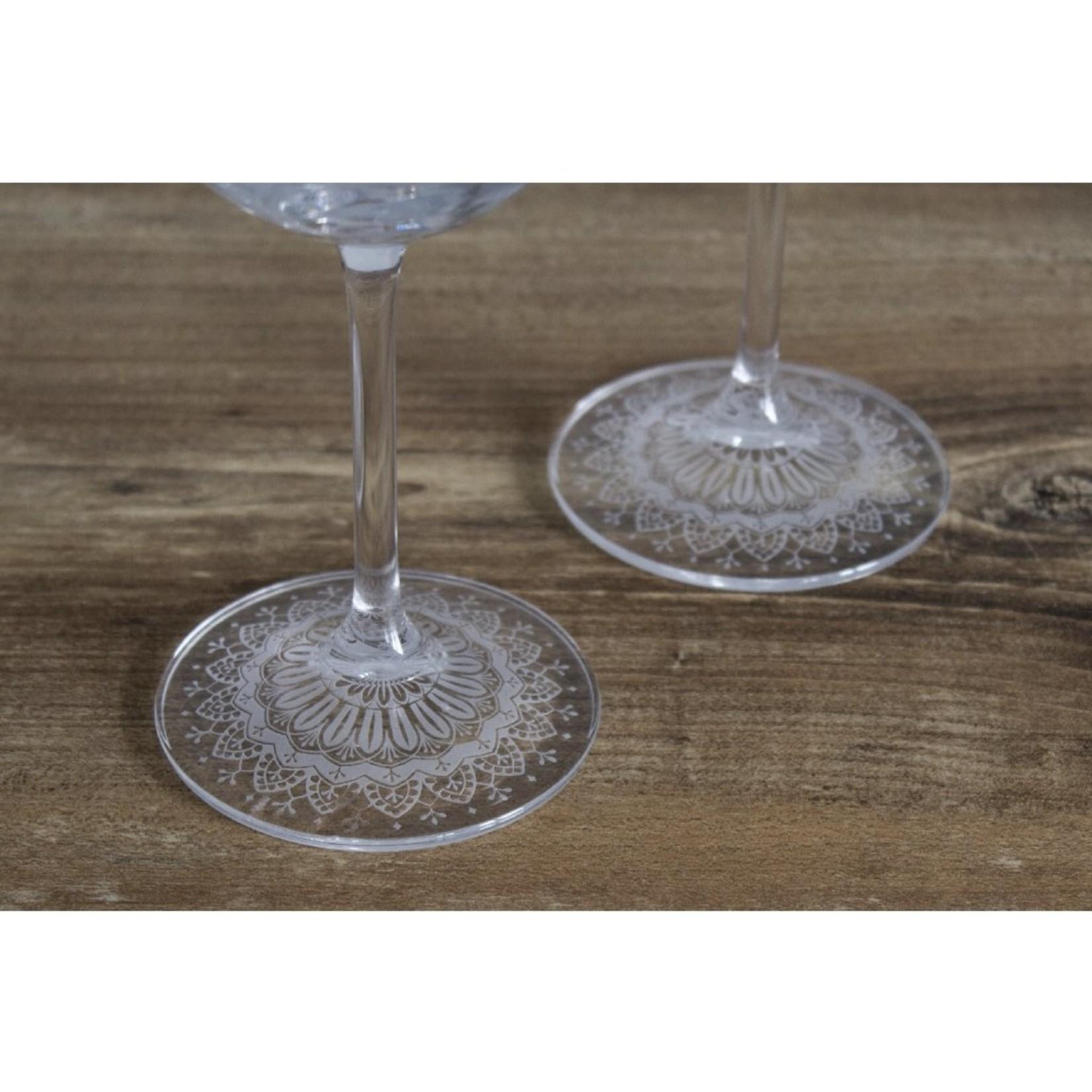 Skloglass Mandala wijnglas / 2st