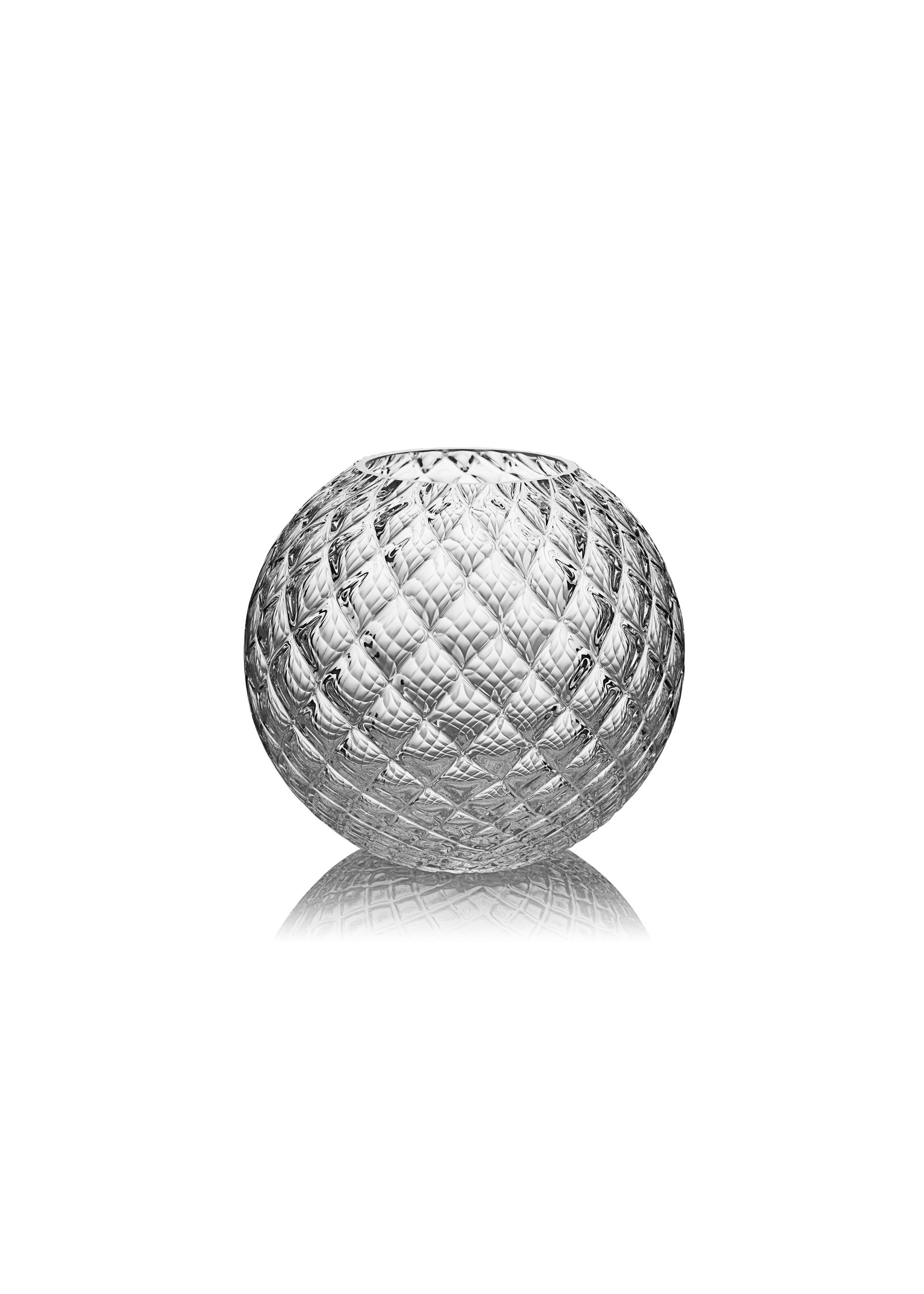 Skloglass Handgemaakt kristallen Dahlia bolvaas 150mm