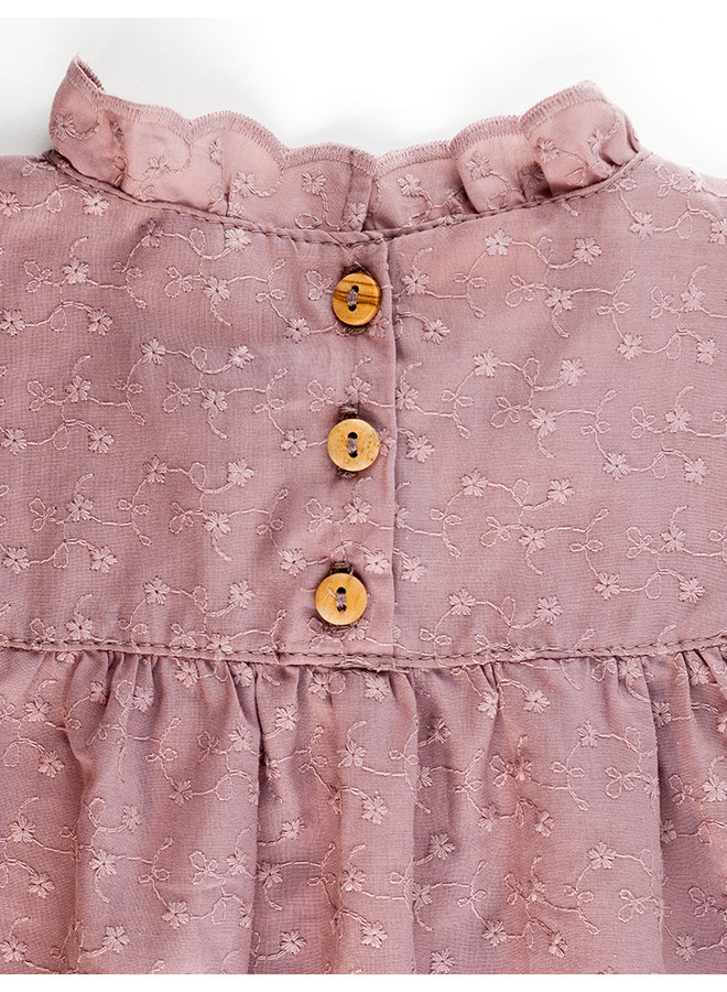 Blouse broidery - Old Rose