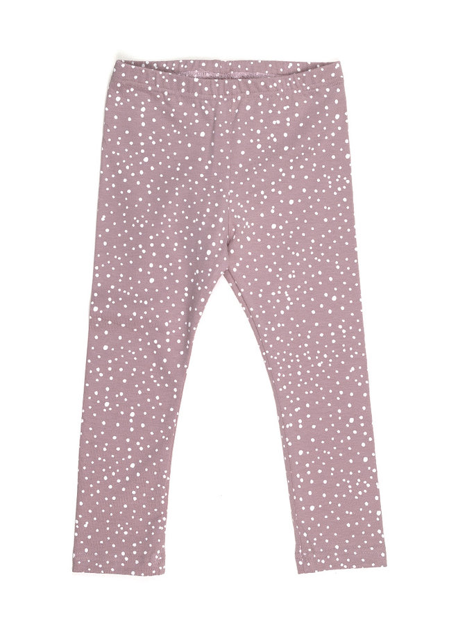 Legging - Dots Dusty Rose