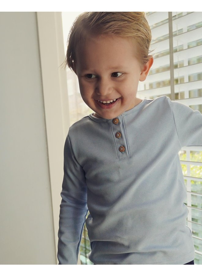 Shirt long sleeve - Dusty Blue
