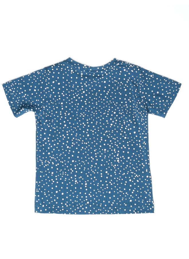 T-shirt print - Dots Dusty blue