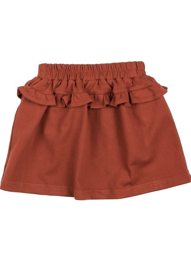 Skirt ruffle - Brick