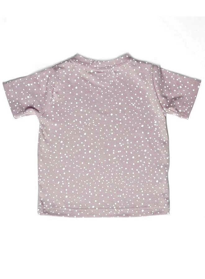 T-shirt print - Dots Dusty Rose