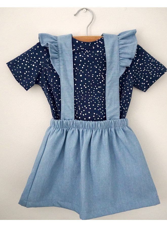 Salopette dress  denim - Blue bleached