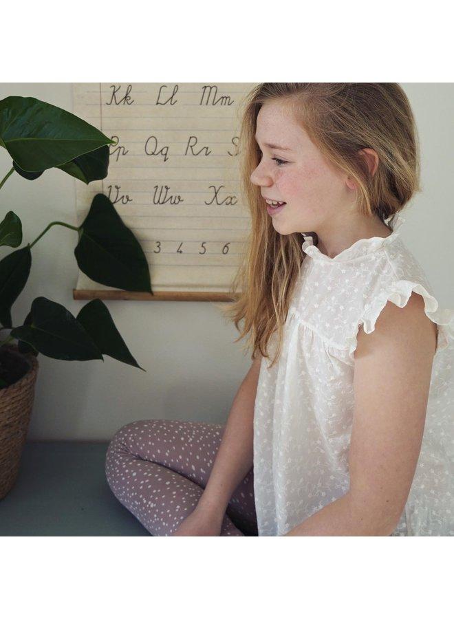 Blouse broidery - Ecru
