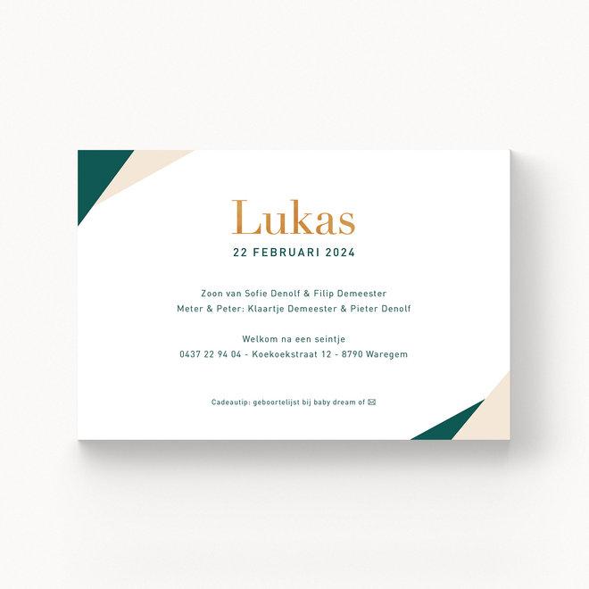Geboortekaartje Lukas - met folie