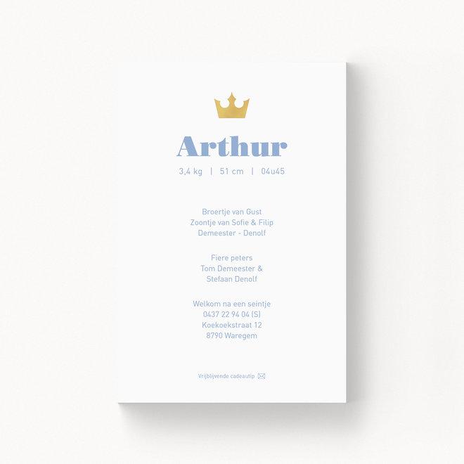 Geboortekaartje Arthur - met folie