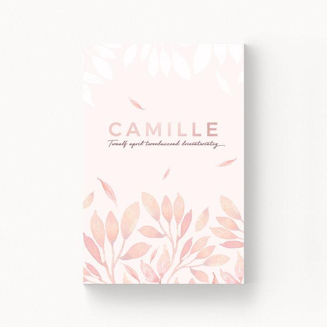 Geboortekaartje Camille - met folie