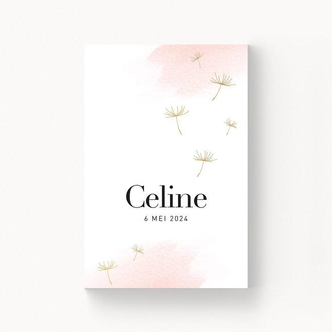 Geboortekaartje Celine - met folie