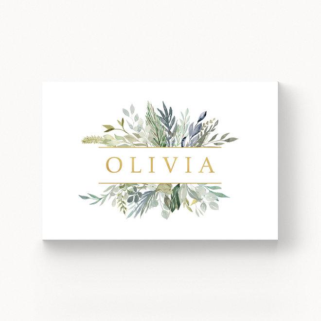 Geboortekaartje Olivia - met folie