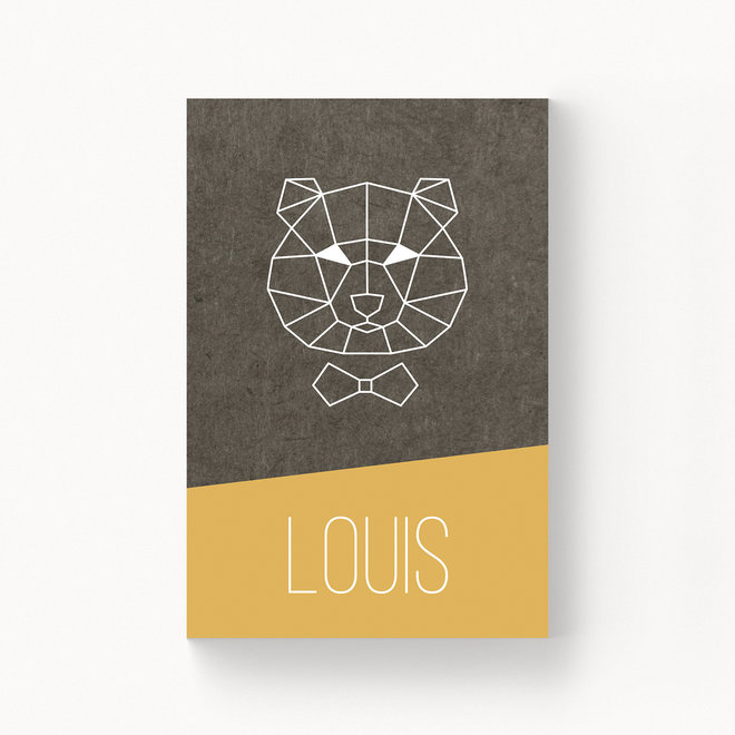 Geboortekaartje Louis - zonder folie