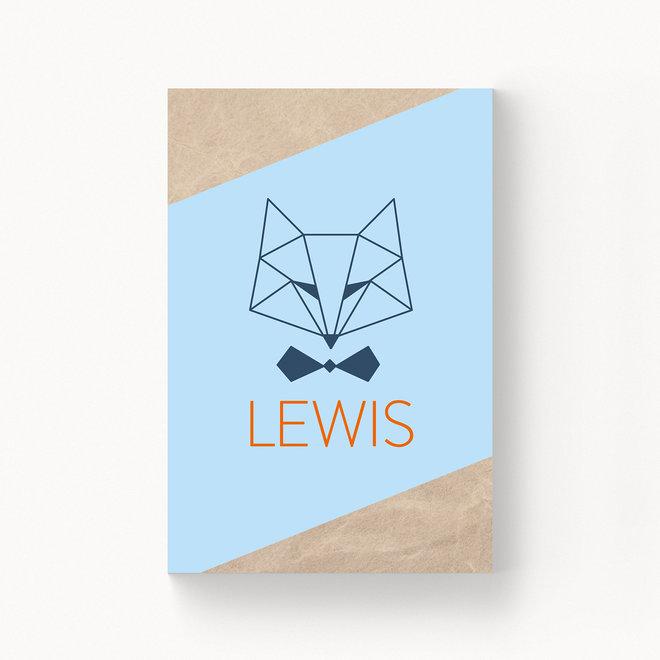 Geboortekaartje Lewis - zonder folie