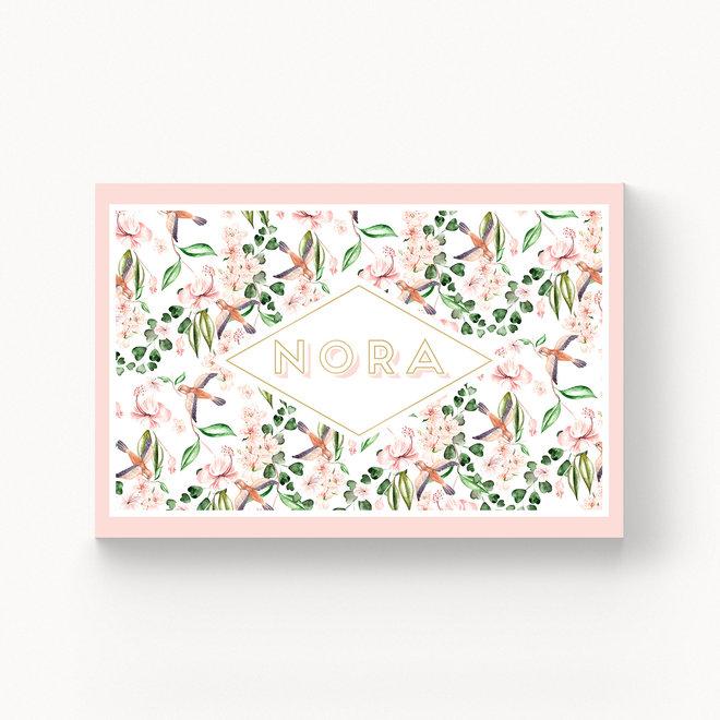 Geboortekaartje Nora - met folie