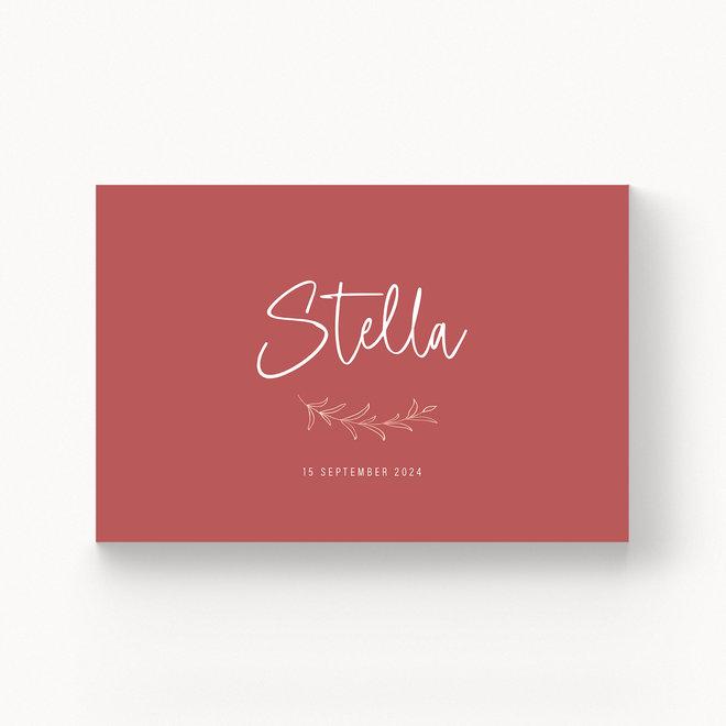 Geboortekaartje Stella - met folie