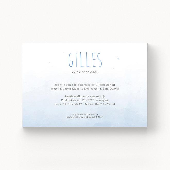 Geboortekaartje Gilles