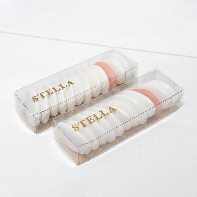Transparant rechthoekig mica doosje met sticker