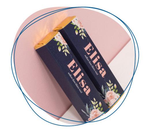 Chocolade met gepersonaliseerde wikkel
