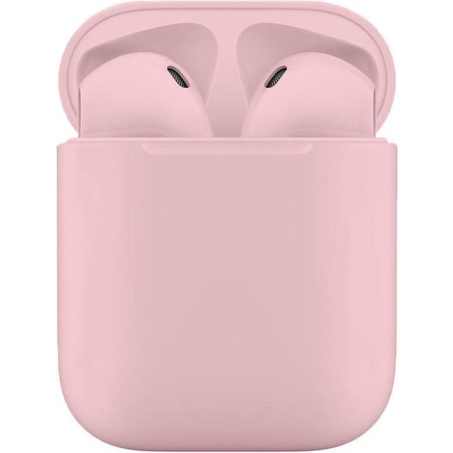 Mossmedia PinkPods - Volledig Draadloze Oordopjes Met Oplaadcase - Draadloos Oplaadbaar - Roze
