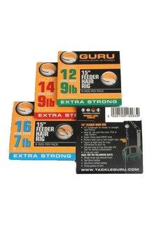 "Guru 15"" Feeder Hair Rig Extra Strong (8 rigs)"