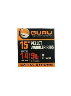 """Guru 15"""" Pellet Waggler Rigs Extra Strong (8 rigs)"""