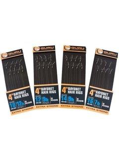 "Guru 4"" Bayonet Hair Rigs (8 rigs)"