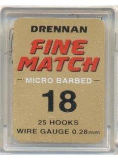 Drennan Fine Match Micro Barbed (25 hooks)