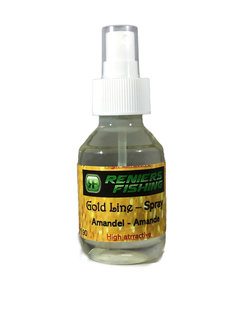 Reniers Fishing Gold Line Spray (120ml) Amandel