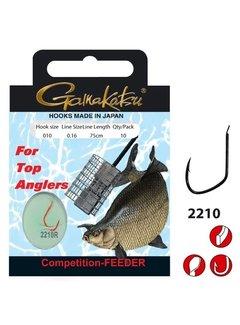 Gamakatsu Onderlijnen Competition Feeder Haak 2210R (10 pcs)