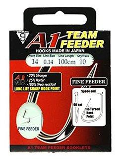 Gamakatsu Onderlijnen A1 Team Feeder Fine Feeder 100cm (10 pcs)