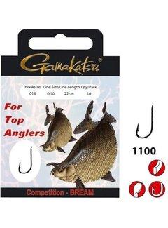 Gamakatsu Onderlijnen Competition Bream Haak 1100B - 22cm (10 pcs)