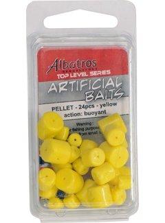 Albatros Artificial Baits Pellet Yellow 24 pcs (8x6/8x8/8x10)