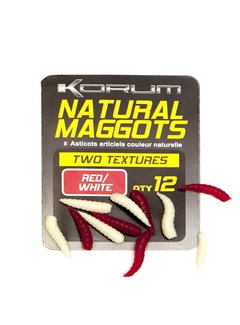 Korum Fluoro Maggots Buoyant (12 pcs) Red/White