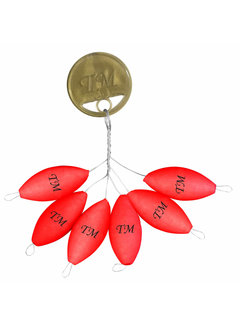 Trout Master Rugby Pilots Floats (6 pcs)