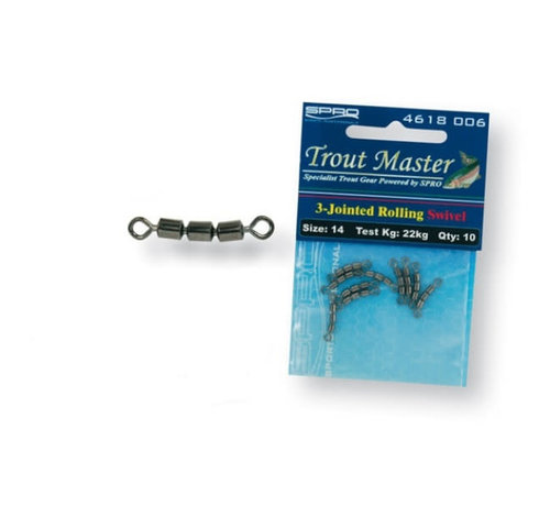 Trout Master 3-Jointed Rolling Swivel (10 psc)