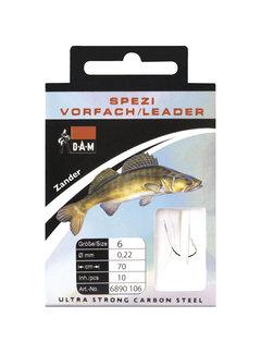 DAM Onderlijnen Forelle Haken Nikkel 140cm (10 pcs)