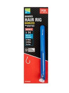 Preston MCM-B Banded Hair Rig Barbless 10cm (8 pcs)