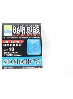Preston Dutch Master Hair Rigs with Quickstop Standaard 38cm (8 pcs)