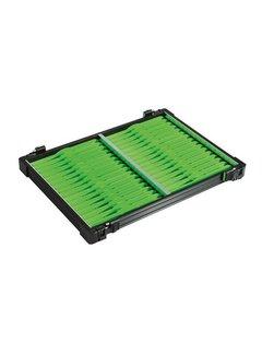 Rive casier noir 32 plioirs verts 19x1,6cm