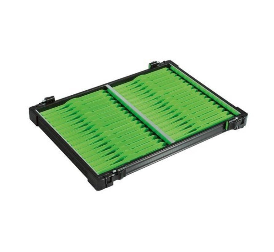 casier noir 32 plioirs verts 19x1,6cm