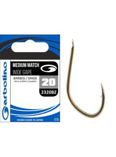 Garbolino Medium Match Round Bend Barbed-Spade (15 pcs)
