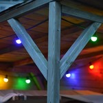 Lichterkette Glühbirne farbig, LED 1 Watt, rot